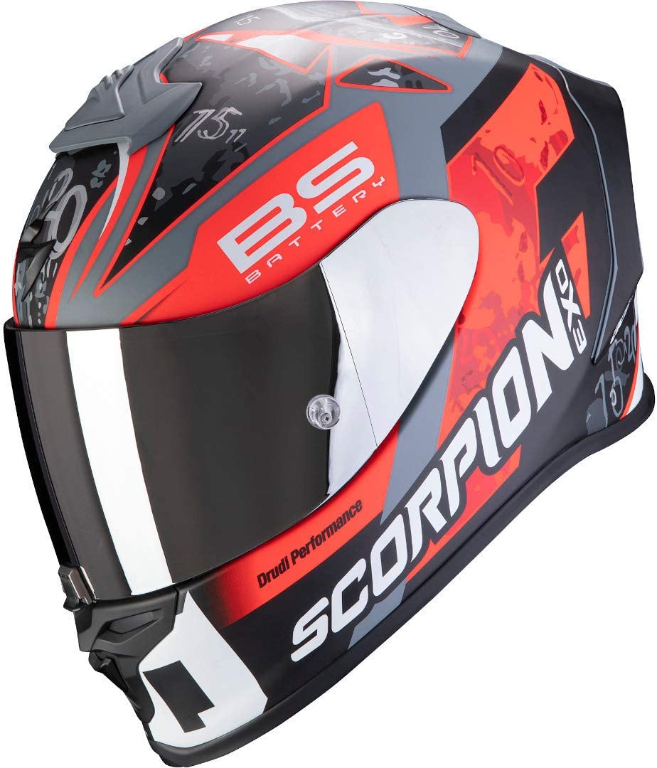 L Noir//Rouge SCORPION Casque moto EXO-R1 AIR FABIO Replica