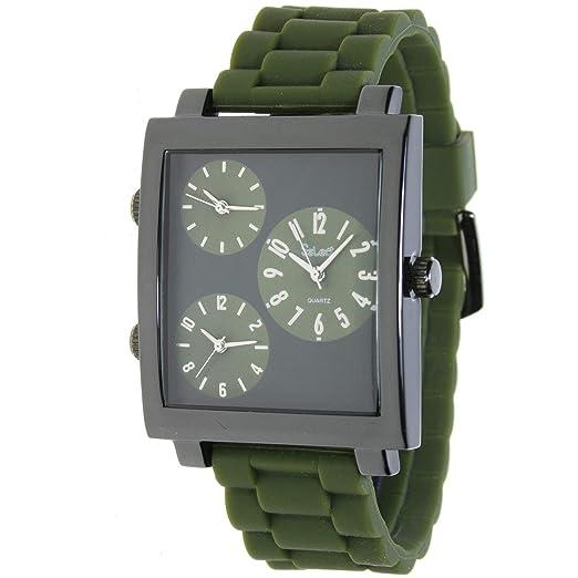 Select Pj-60 Reloj Analogico para Hombre Caja De Metal Esfera Color Negro: Amazon.es: Relojes