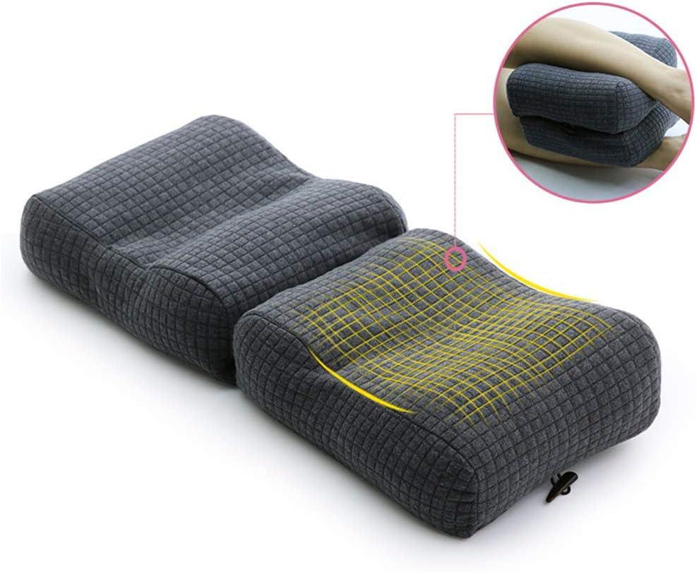 JUNJP Almohada ortopédica de Apoyo para la Rodilla, Almohada con Contorno de cuña para Las piernas para los Que Duermen de Lado con Funda extraíble y Lavable, para el Dolor cr&oac