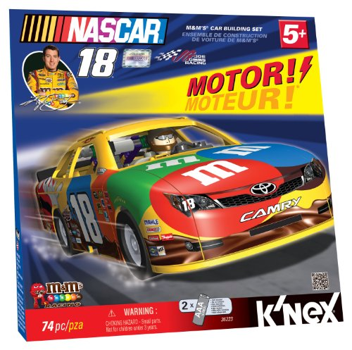 K'NEX Nascar #18 M&M's Motorized Car Building - Race Car Knex