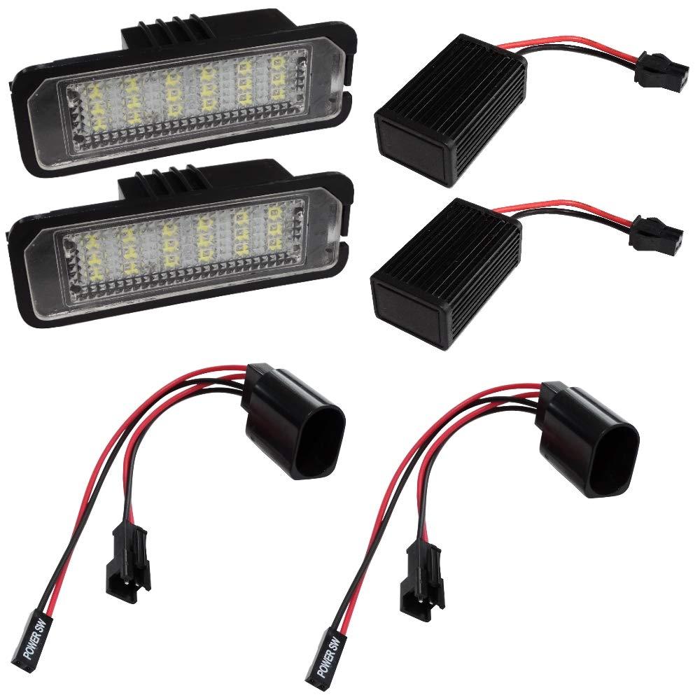 AERZETIX: Par de lamparas LED para iluminacion de matricula C40893 ...