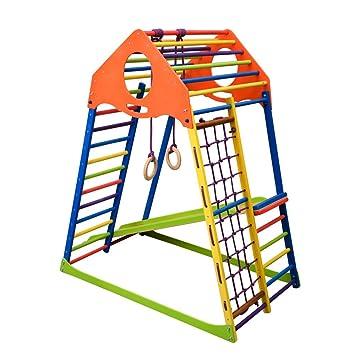 Cool Kinder Klettergerüst Kindwood Set mit Rutsche: Amazon.de: Spielzeug WH15