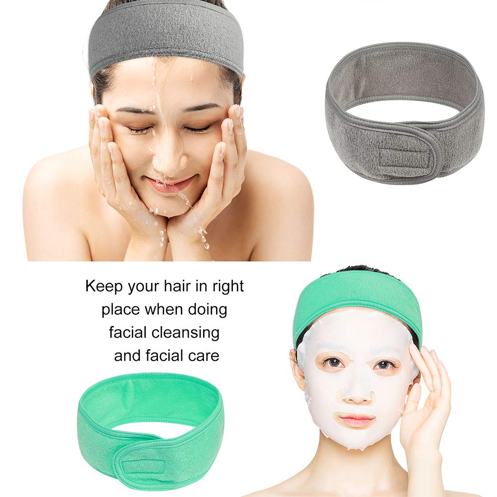 10 Pack Spa Headband, Makeup Facial Shower Bath Yoga Sport Headband, Headband for Washing Face, Hair Wrap Sweat Headband Terry Cloth Headbands for ...