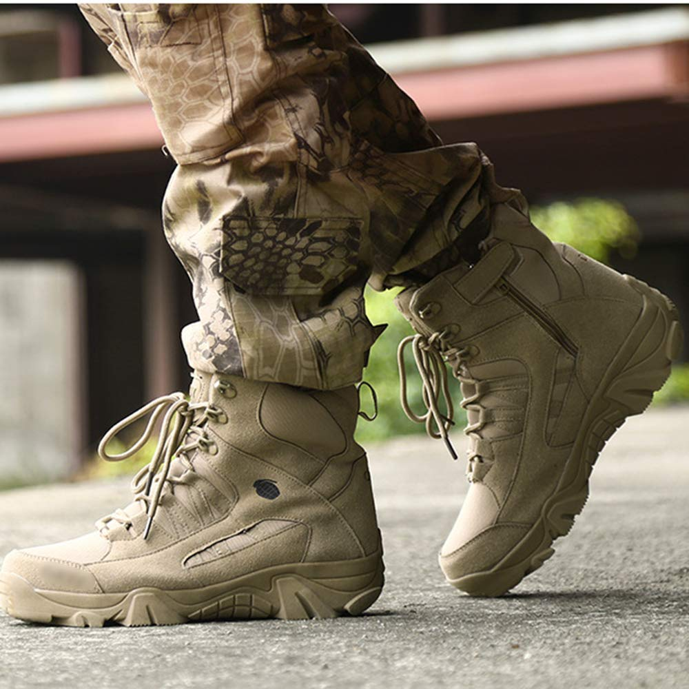 M/änner W/üste Armee Kampfstiefel Schn/ürschuhe High Top Military Dschungel Wandern Patrol Stiefel Outdoor Camping Taktische Stiefel