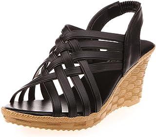 UOMOGO® Donna Estate Sandali Pantofole con Zeppa Infradito Sandali delle Signore Spiaggia Piscina Antiscivolo Scarpe