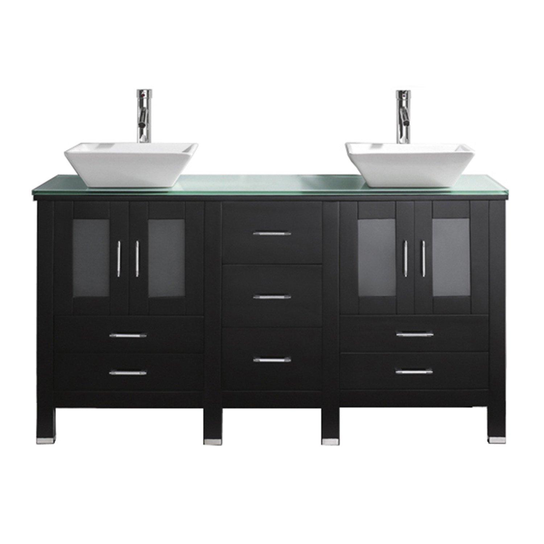 Virtu USA MDGES Bradford Inch Double Sink Bathroom Vanity - Discount bathroom vanities tampa