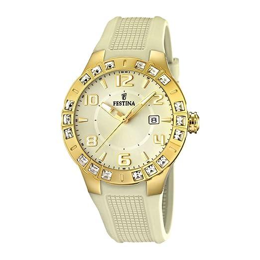 632f471dc5df Festina F16582 2 - Reloj analógico de Cuarzo para Mujer con Correa de Caucho