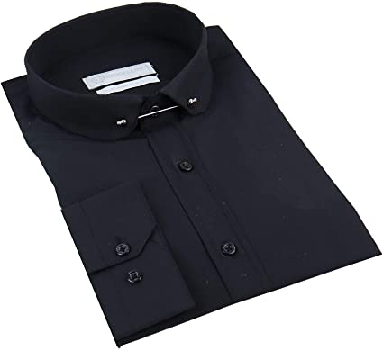 TruClothing.com Camisa de Cuello Club para Hombre. Estilo Blinders 1920.