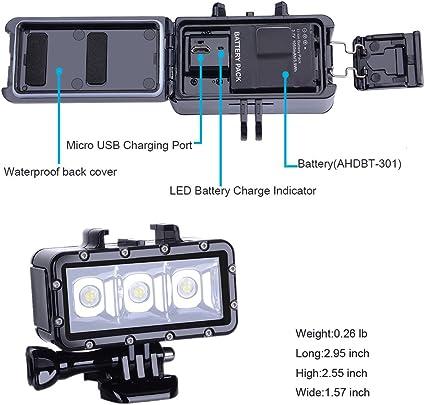 Suptig Tauchen Licht High Power Dimmbar Wasserfest Led Kamera