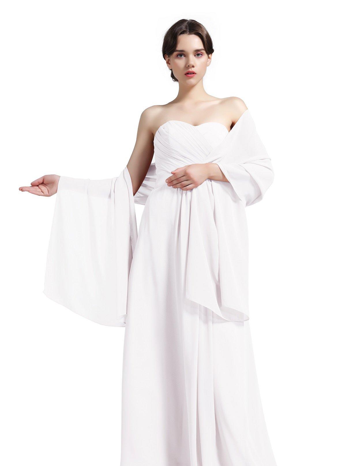 f5ff1397d463 BEAUTELICATE Écharpe Châle Étole Mousseline de Soie Femme Pour Mariage  Soiree Cérémonie 28 Couleurs product image