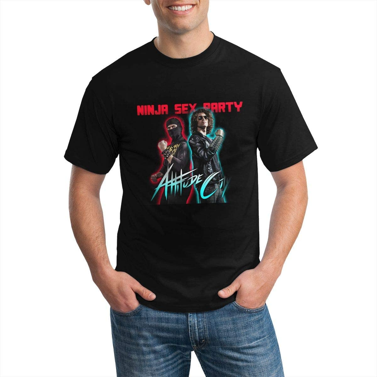 Ninja Sex Party T Shirt Man Comfort Short Sleeves Round Neck Tee