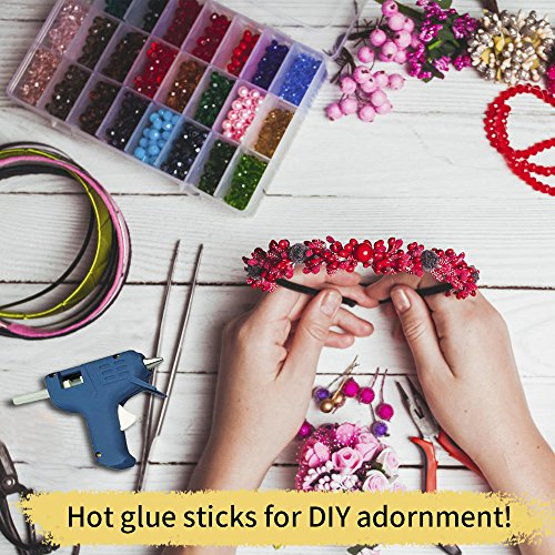 Mini Hot Glue Gun Sticks 4 In. 0.27 In. Dia 200 PACK All Purpose Hot Melt Glue Sticks for Most Hot Melt Glue Gun Clear Hot Glue Adhesive almost for All Materials for Kids Adults DIY Sealing Repairing by Tavda Tech (Image #2)