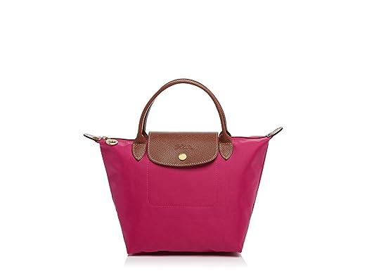 06e5e5677408 Longchamp Le Pliage Small Mini Tote Bag in Cyclamen Pink  Amazon.co ...
