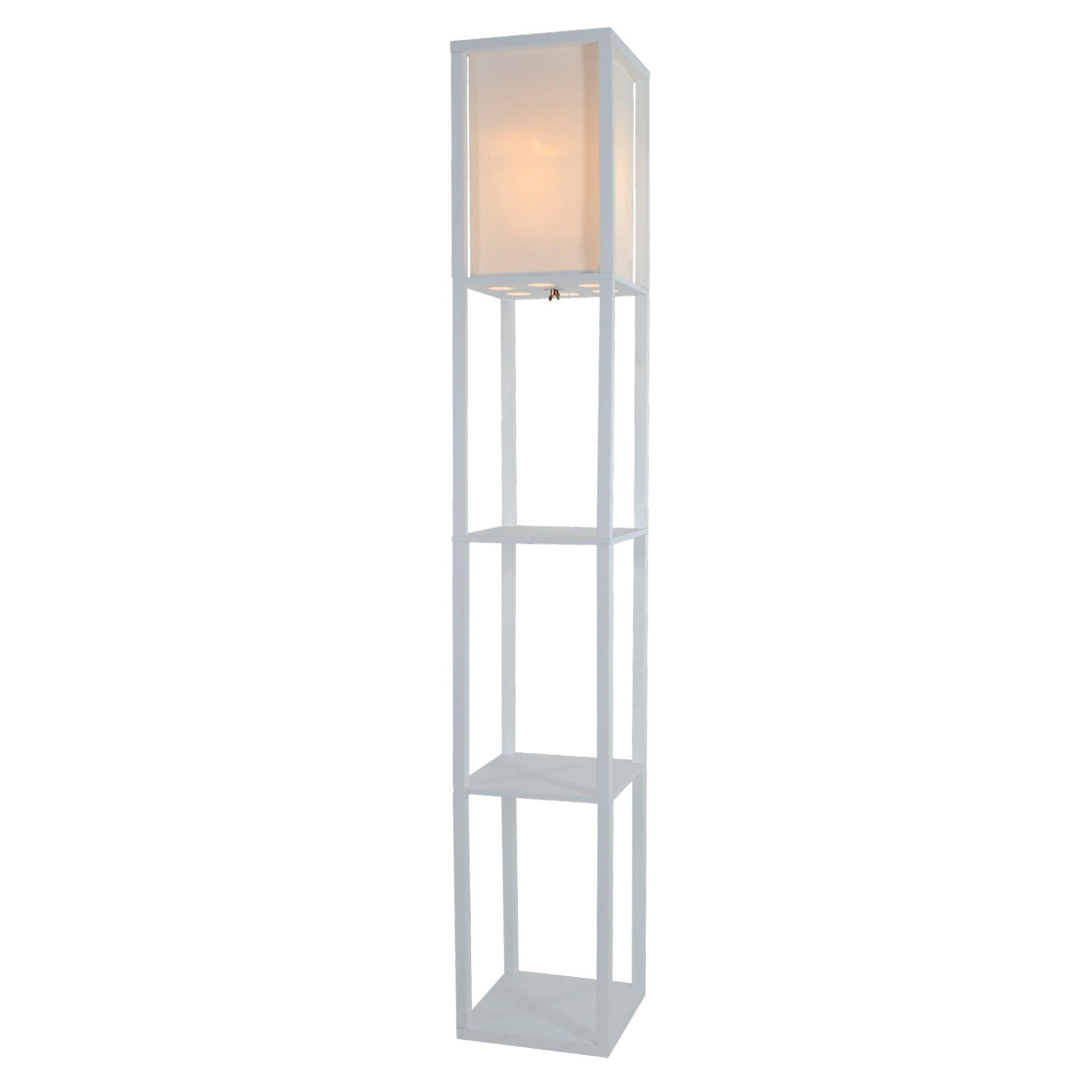 Nursery floor lamp amazon light accents wooden floor lamp with white linen shade white aloadofball Choice Image