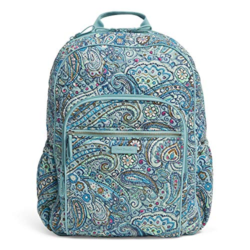 (Vera Bradley Iconic Campus Backpack, Signature Cotton, Daisy Dot Paisley)