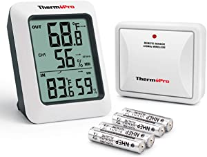 ThermoPro TP60S Digital Hygrometer Indoor Outdoor Thermometer Wireless Temperature