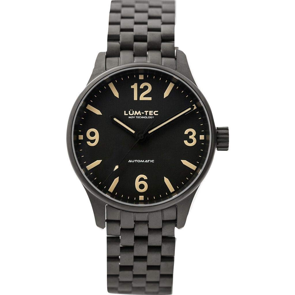 Lum-Tec C7 Automatic Watch | Charcoal Steel Watch Band