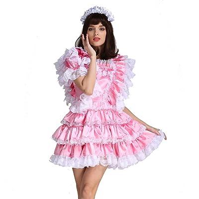 Men/'s Sissy Cheer Leader Fancy Dress Sissy Schoolgirl Uniform Crossdress Cosplay