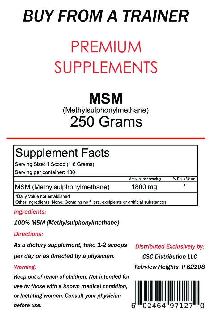 Amazon com: 250g Pure MSM Powder 250 gram: Health & Personal