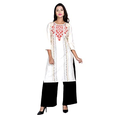 3cc18462ffc Sangria Women s Casual Cotton Kurti  Amazon.in  Clothing   Accessories