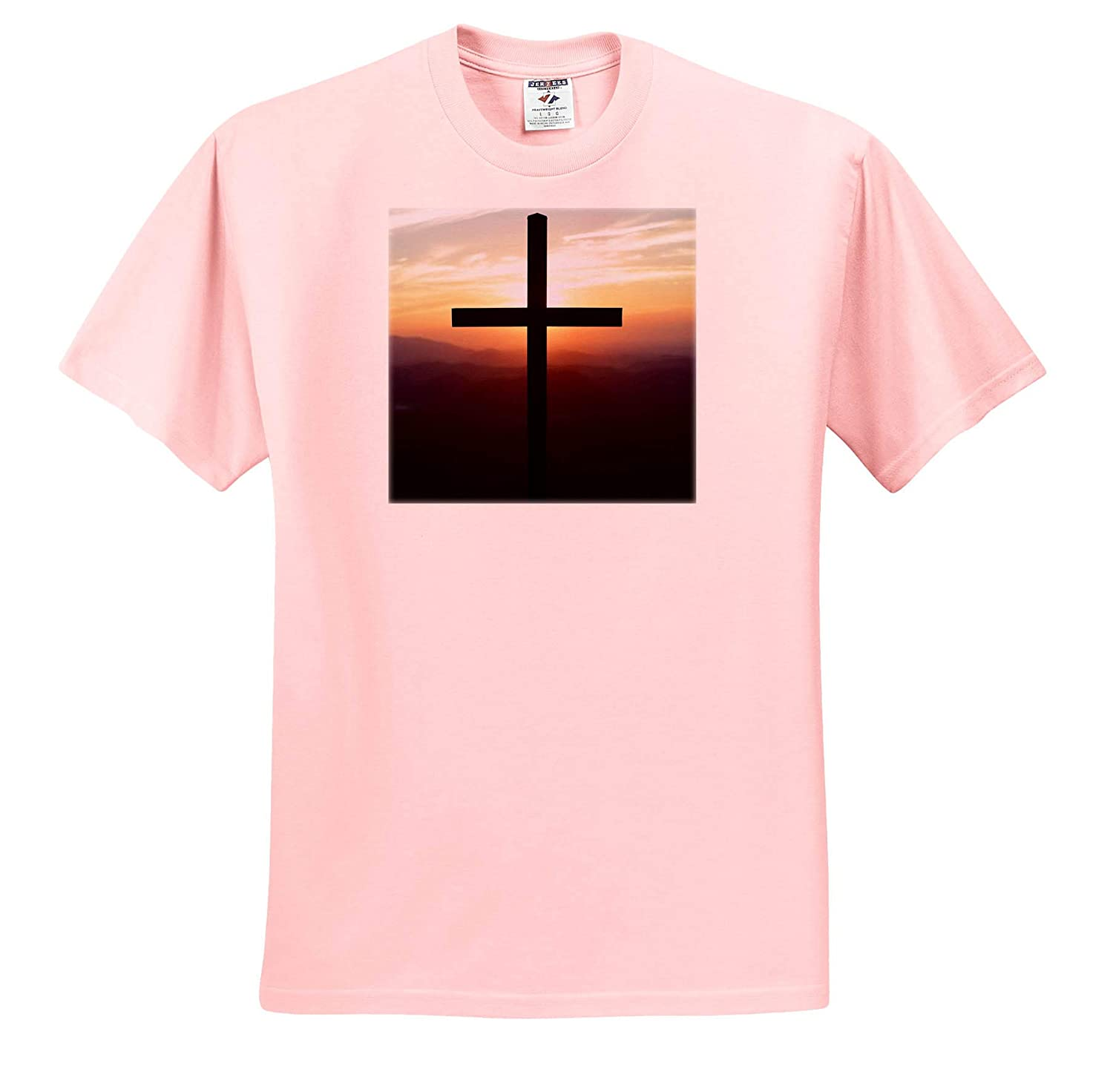 Close up Photo of The Cross During a Sunrise at Pretty Place Chapel Landscape - T-Shirts 3dRose Stamp City