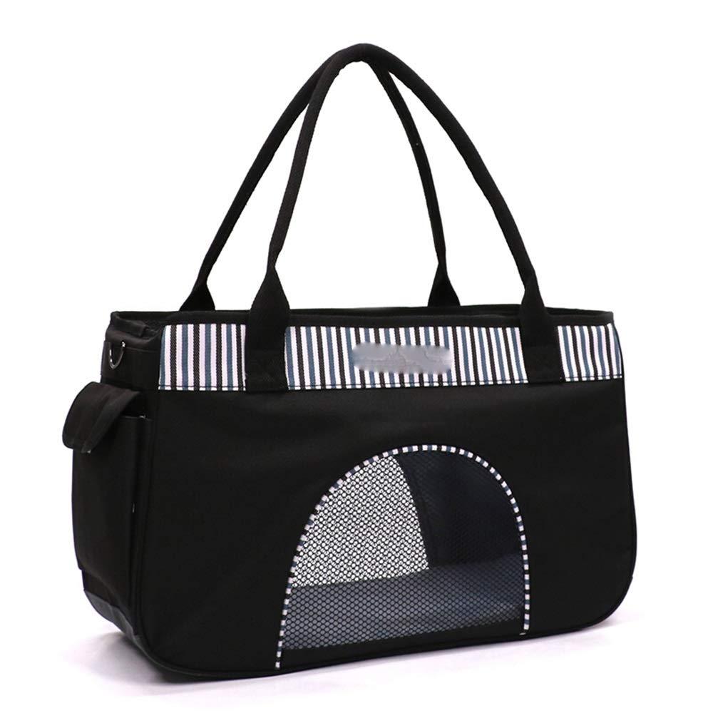 C 50CMX19CNX30CMByx Pet Bag  Summer Breathable Bag Dog Out Carrying Bag Cat Handbag Bag Bag Cat Bag Three Sides Large Network Mouth Pet Backpack (color   A, Size   50CMX19CNX30CM)