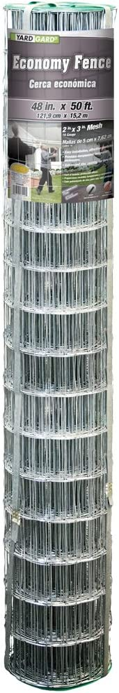 YARDGARD 308362B 48 inch by 50 Foot 16 Gauge 2 inch by 3 inch mesh Economy Fence Welded Wire