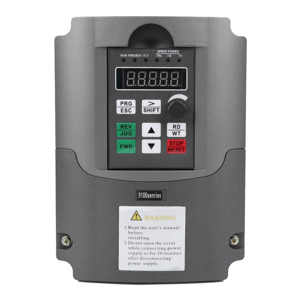 Inversor VFD 220V 5.5KW Monofásico 220V Entrada Trifásico 380V Salida Convertidor VFD Controlador de Motor de accionamiento de frecuencia Variable