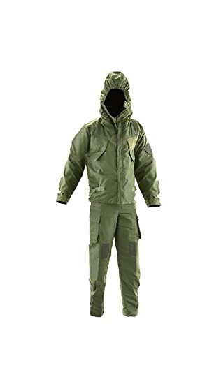 NBC CBRN NATO Mk4 British Army Surplus Nuclear Biological Chemical Warfare  Suit Olive Green vacuum packed