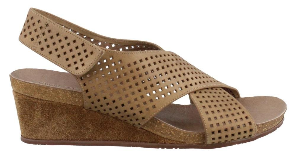 Women's Chocolate Blu, Theo Wedge Sandals B078BKLV9R 8 B(M) US|Khaki