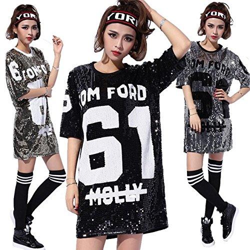 Womens Fashion Sparkle Glitter Sequins Paillette Hip Hop Shirt Tank Top Clubwear 61wxKS 2B2RqL
