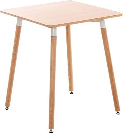 Clp Tavolo Quadrato Da Cucina Viborg In Legno I Tavolino Pranzo Moderno Design In Mdf E Legno Di Faggio Colore Natura Dimensione 60 Cm Amazon It Casa E Cucina