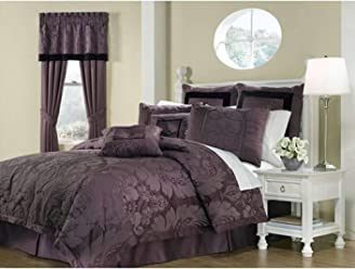 Royal Heritage Home Lorenzo Purple 8-Piece Queen Size Comforter Set