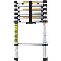 HOME BUY Aluminium Alloy Folding Step Ladder Portable and Compact Telescopic Ladder, Folding Step Ladder for Household and Outdoor Purpose