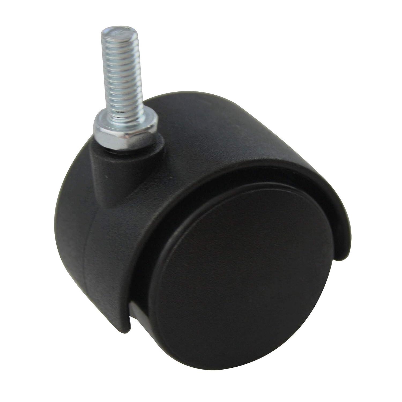 4er Set MS Beschl/äge/® M/öbelrolle Hartbodenrolle Lenkrolle /ø 40mm aus Kunststoff mit Gewindestift