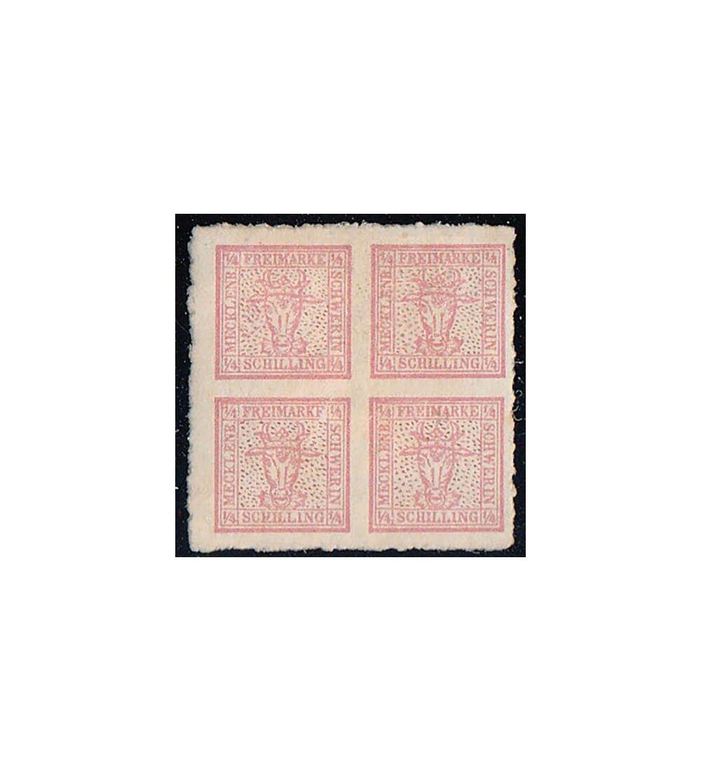 Goldhahn Mecklenburg-Schwerin Nr. 4 ungestempelt, geprüft und signiert Bühler Briefmarken für Sammler