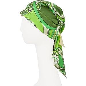 WEAR EVERYWHERE Premium Non-Slip Silk Scarves (Large, Mojito)