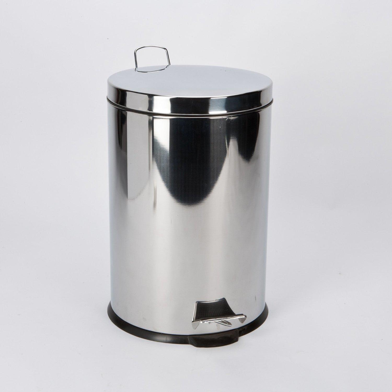 3L, 5L, 9L Stainless Steel Pedal Bin Dustbin Bathroom Kitchen Office (3L) Prima