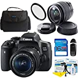Deal-Expo Canon EOS 750D/Rebel T6i DSLR Camera Bundle with Canon EF-S 18-55mm IS STM Lens Basic Accessories Bundle