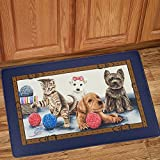 Sweet Home Collection Memory Foam Anti Fatigue Durable Non Skid Rug Long Standing Comforter, 30'' x 18'', Precious Pets