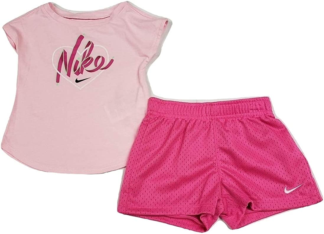 Baby Girl/'s Nike Shirt /& Shorts 2 Piece Set Outfit
