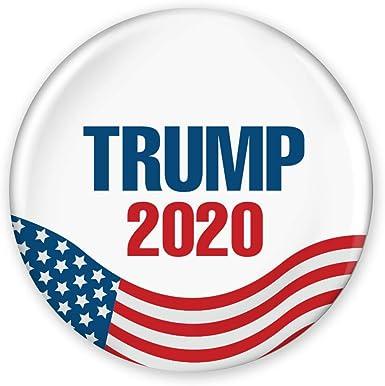 "3/"" Political Campaign Pin Donald Trump 2020 United States Flag Design"