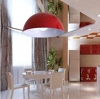 Sai TaiLED Pendelleuchte Hohenverstellbar Kuchen Deckenleuchte Wohnzimmer Designleuchte Deckenlampe Schlafzimmer Modern Rot