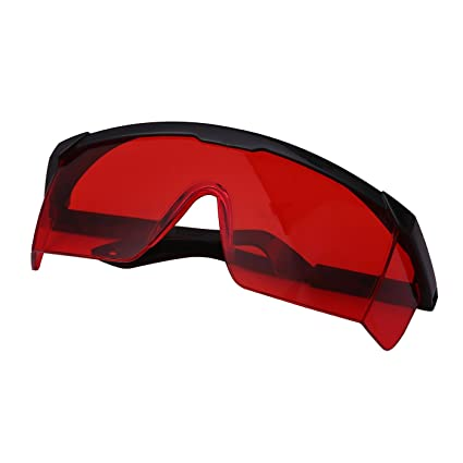 b289867303 HDE Laser Eye Protection Safety Glasses for Green and Blue Lasers with Case  (Red)