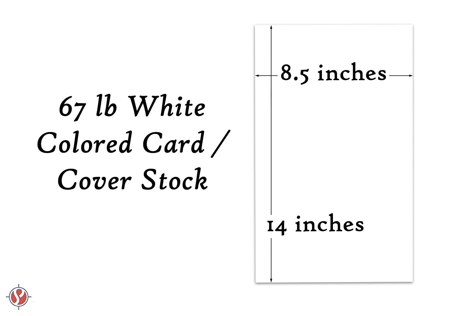 1 Case of 1000 Sheets, 8.5'' x 14'' Legal Size Card Stock Paper, 67Lb Vellum Bristol Pastel Color Cardstock | Perfect for School and Craft Projects | White