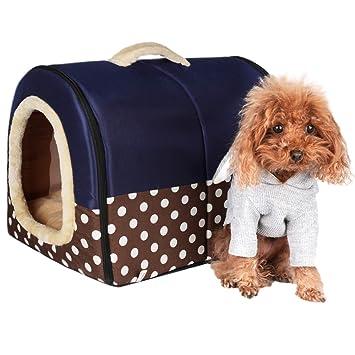 ACTNOW - casa de mascotas y sofá portátil 2 en 1, antideslizante ...