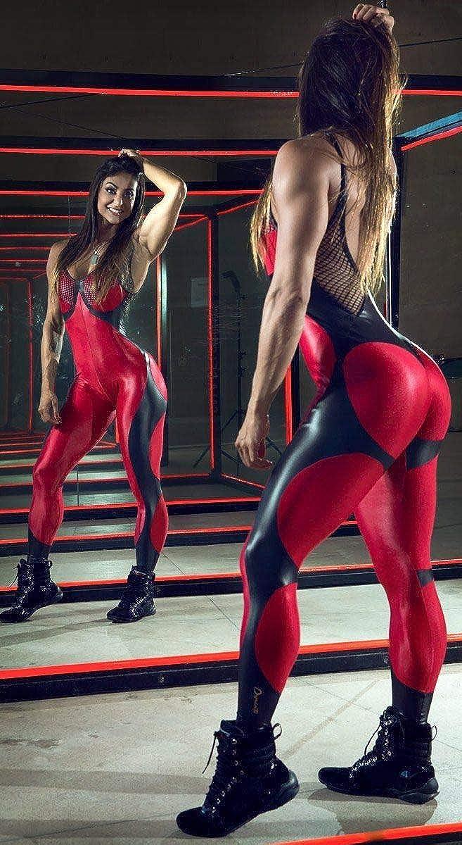 b2701a3aba11 Amazon.com  Brazilian Workout Jumpsuit - Bordo Apple Booty  Clothing