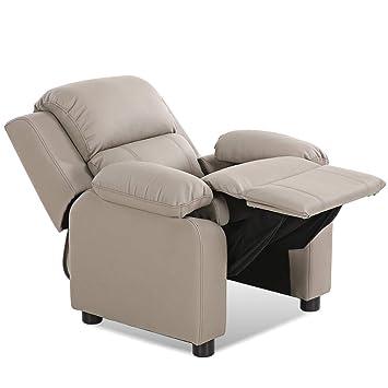 Amazon Com Costzon Kids Recliner Sofa Children Contemporary Pu