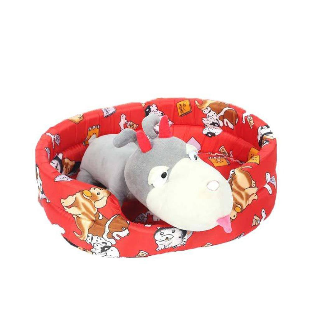 A Dixinla Pet Bed Pet Nest Cushion Kennel Pet Cotton Nest Four Seasons General pet Mat Supplies 63  53  15cm