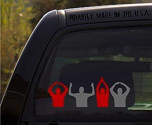 O-H-I-O - Scarlet and Gray - Ohio State Buckeyes Football Decal/Window Sticker